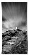 Path To Twr Mawr Lighthouse Beach Towel by Dave Bowman