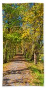 Pathway Along The Ohio And Erie Canal  Beach Towel