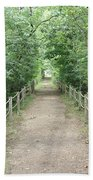 Pathway Through The Forest Beach Towel