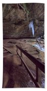 Pato To Ash Cave In Winter Beach Towel