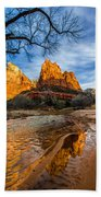 Patriarchs Of Zion Beach Towel by Chad Dutson