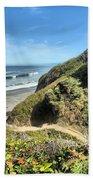 Patrick's Point Beach Towel by Adam Jewell