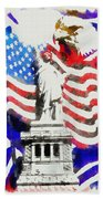 Patriotic Symbolism Beach Towel