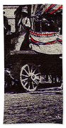 Patriotic Wagon Stone And Congress Tucson Arizona C.1900 Restored Color Texture Added 2008 Beach Towel