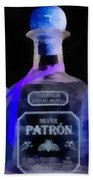 Patron Tequila Black Light Beach Towel
