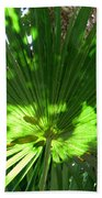 Green Plant Pattern Beach Towel