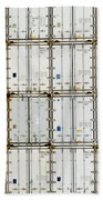 Pattern Of Shipping Container Stack At Depot Beach Towel