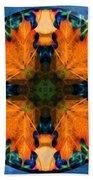 Patterns Of Autumn Beach Towel