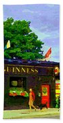 Patty's Pub Guinness On The Glebe Restaurant Bar Bank And Ossington Paintings Of Ottawa Art Cspandau Beach Towel