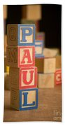 Paul - Alphabet Blocks Beach Towel