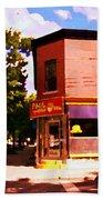 Paul Patate Pointe St Charles South West Montreal Autumn Street Scene Carole Spandau Beach Towel