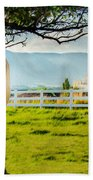 Payson Country Temple Oil Paint Texture Beach Towel