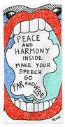 Peace And Harmony Beach Towel
