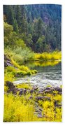 Peace And Tranquility In The Heart Of Feather River, Quincy California Beach Towel