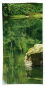 Peace By The River Beach Towel
