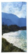 Peace In The Valley - Landscape Art Beach Towel
