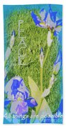 Peace Is Possible Beach Towel