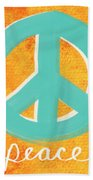 Peace Beach Towel by Linda Woods