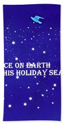 Peace On Earth Card Beach Towel