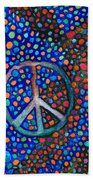 Peace Sign Beach Towel by Janice Dunbar