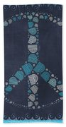 Peace Symbol Design - Btq19at2 Beach Towel by Variance Collections