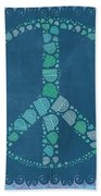 Peace Symbol Design - Tq19at02 Beach Towel by Variance Collections