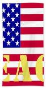 Peace The American Flag Beach Towel