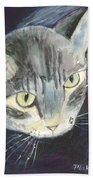 Peace The Cat Beach Towel