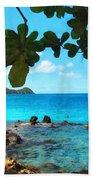 Peaceful Beach St. Thomas Beach Towel