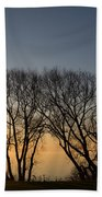 Peaceful Blues And Golds  Beach Towel