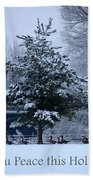 Peaceful Holiday Card - Winter Landscape Beach Towel