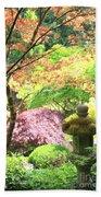 Peaceful Japanese Garden Beach Towel