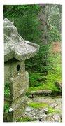 Peaceful Japanese Garden On Mount Desert Island Beach Towel by Edward Fielding
