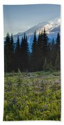 Peaceful Mountain Flowers Beach Towel