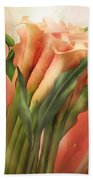 Peach Callas Beach Towel