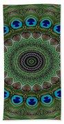 Peacock Abstract Beach Towel