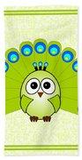 Peacock  - Birds - Art For Kids Beach Towel
