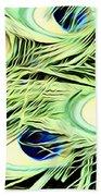 Peacock Colour Beach Towel