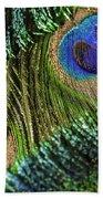 Peacock Eye And Sword Beach Towel