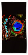 Peacock Feather Abstract Beach Towel