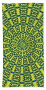 Peacock Feathers Kaleidoscope 2 Beach Towel