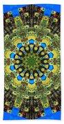 Peacock Feathers Kaleidoscope 9 Beach Towel