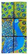 Peacock Ix Beach Towel