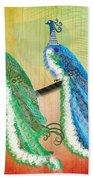 Peacock Love Beach Towel
