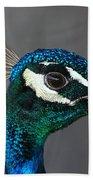 Peacock Profile Beach Towel