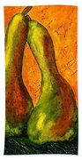 Pear Whimsy Beach Towel