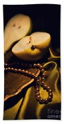 Pearls And Pears Beach Towel
