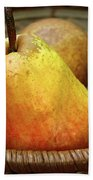 Pears In A Basket Beach Towel