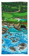 Pebble Beach 15th Hole-north Beach Towel