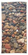 Pebbles Under Water Beach Towel